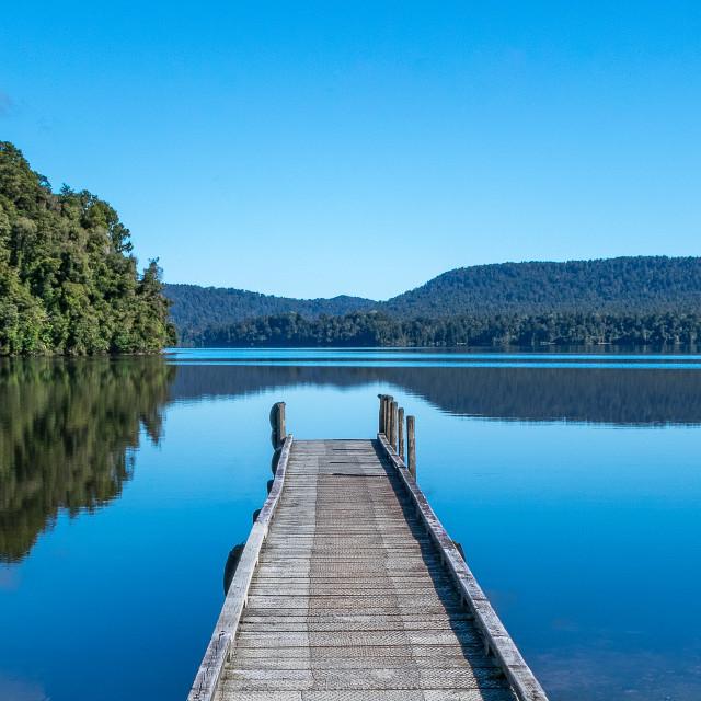 """""""Lake Mapourika - West Coast"""" stock image"""