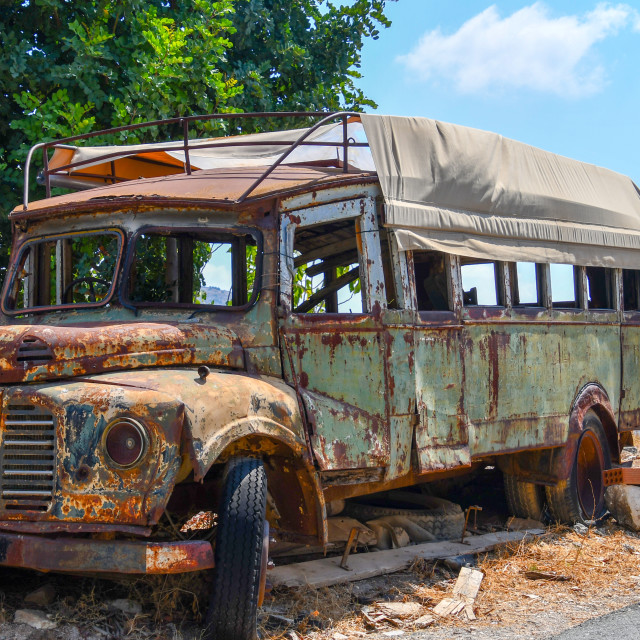 """Rusty Bus"" stock image"