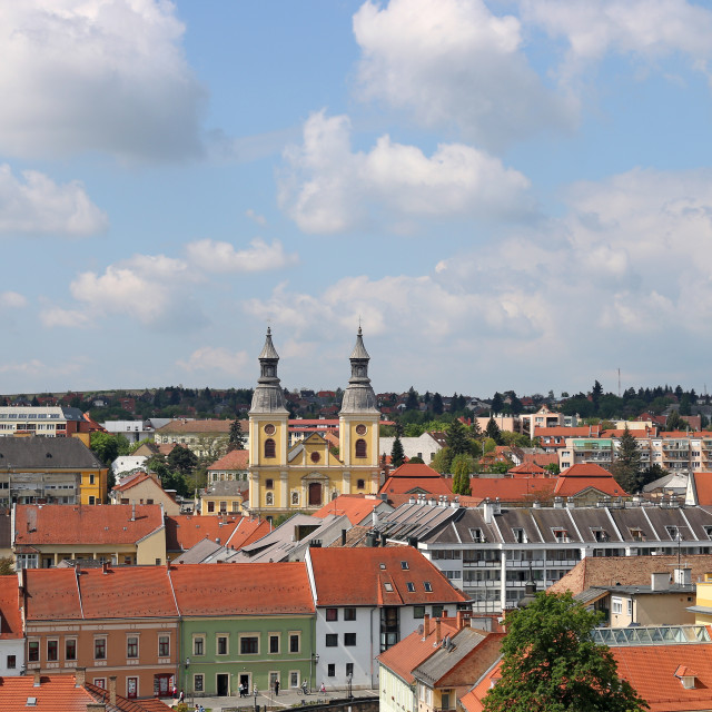 """""""Eger cityscape church and buildings Hungary"""" stock image"""
