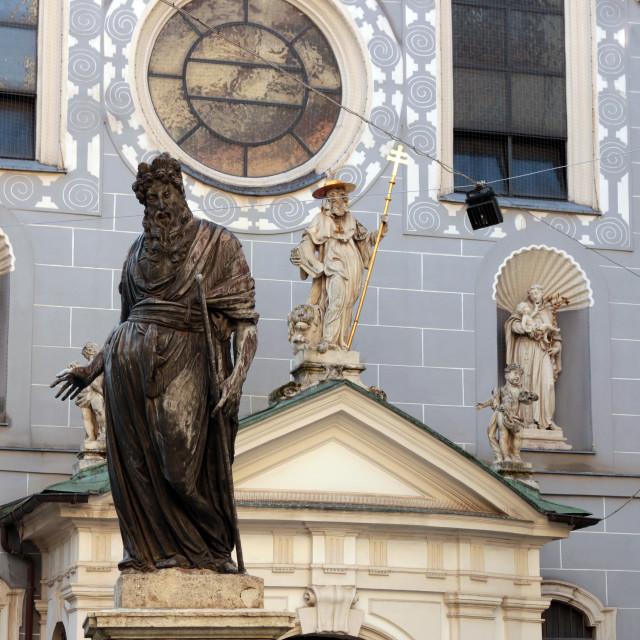"""Franciscan Church Franziskanerplatz Vienna Austria"" stock image"
