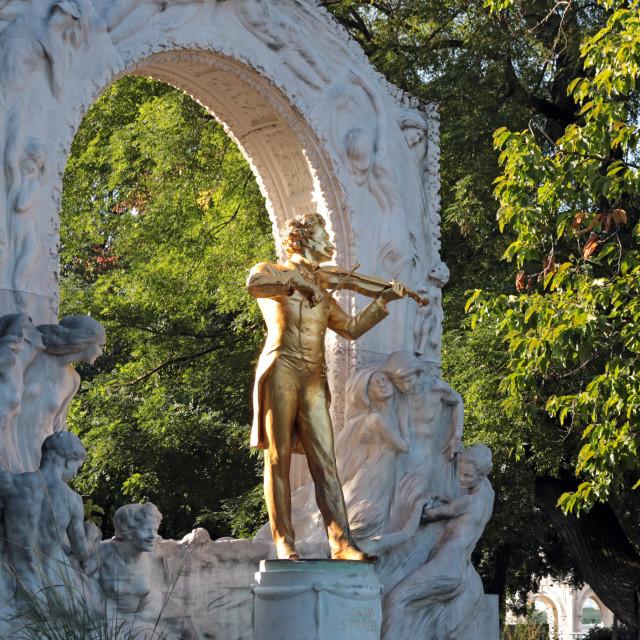 """Johann Strauss monument Stadtpark Vienna Austria"" stock image"