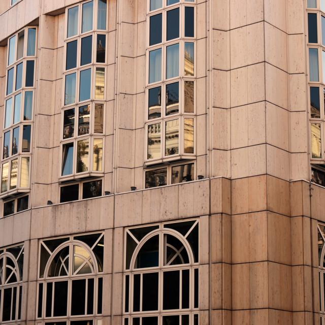 """Modern building facade detail Vienna Austria"" stock image"