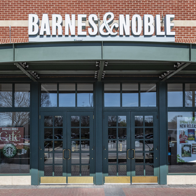 """""""Exterior of Barnes and Noble bookstore"""" stock image"""