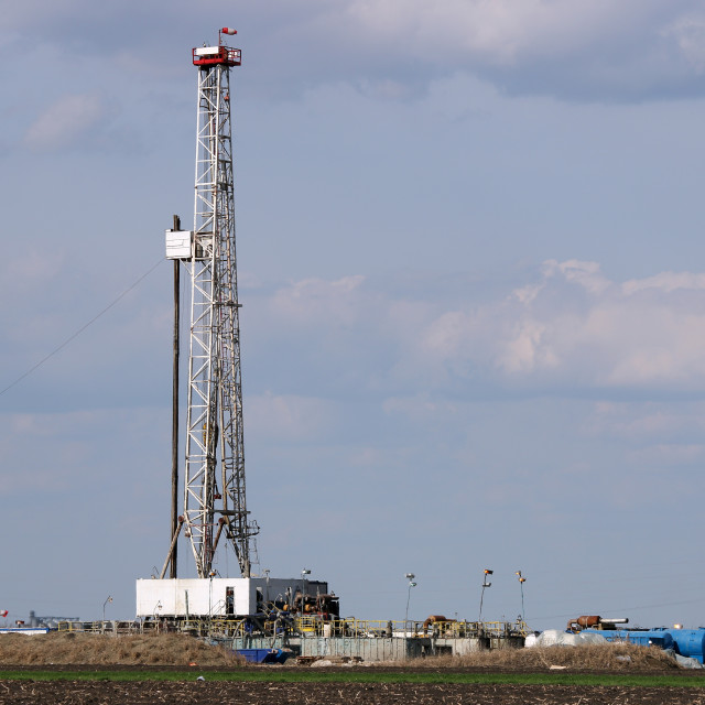 """""""land oil and gas drilling rig in oilfield industry"""" stock image"""