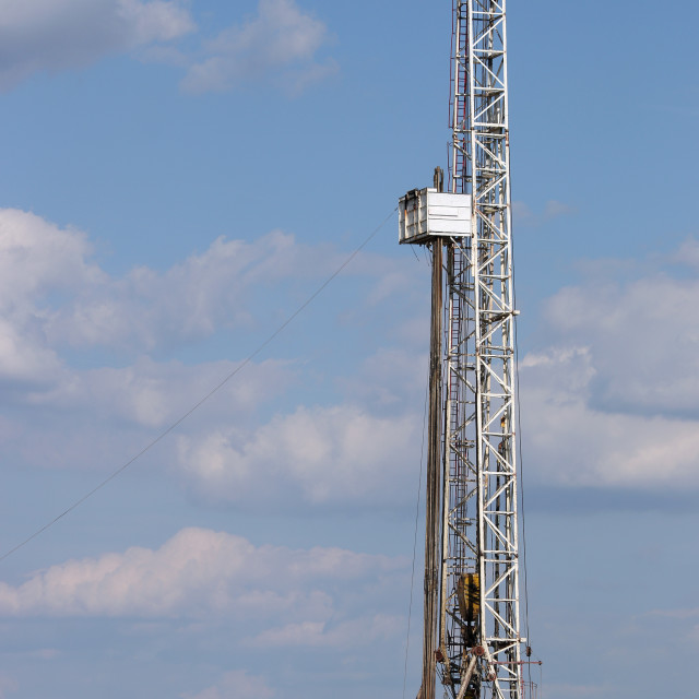 """""""Oil and gas drilling rig in oilfield industry"""" stock image"""