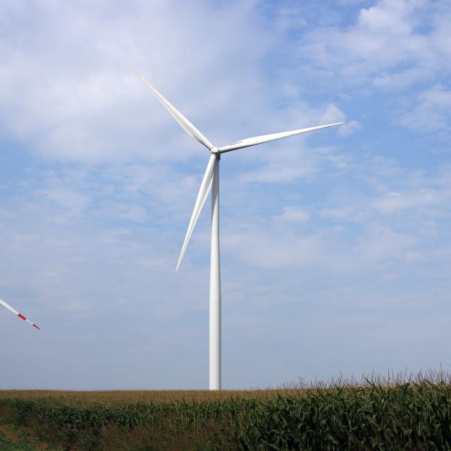 """wind turbines green energy industry"" stock image"