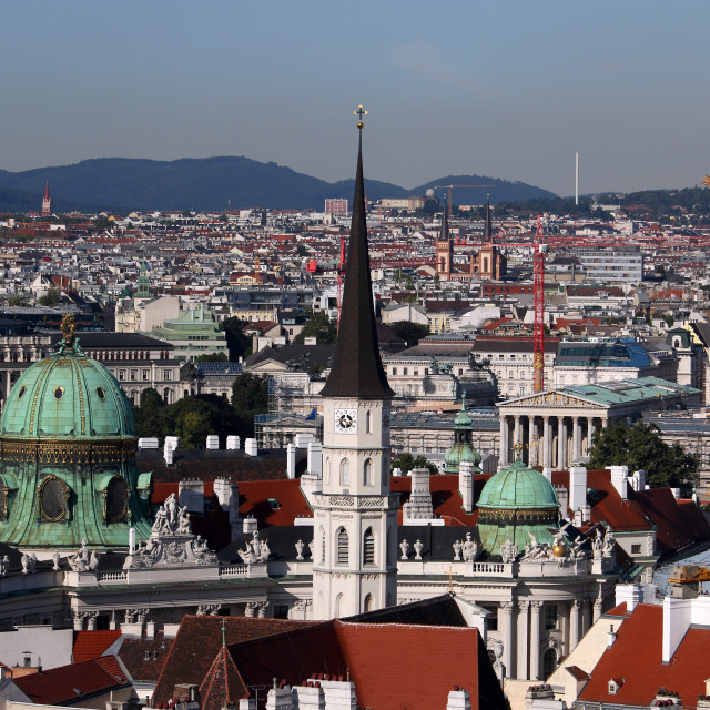 """""""Church tower and palaces Vienna cityscape Austria"""" stock image"""