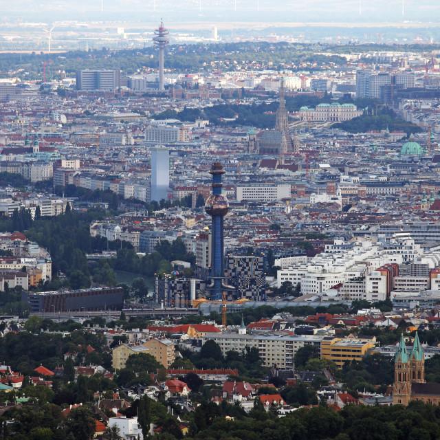 """""""panoramic view Vienna city Austria"""" stock image"""