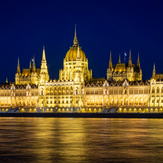 """""""Night Time on the Danube"""" stock image"""
