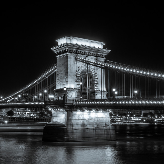 """The Chain Bridge"" stock image"