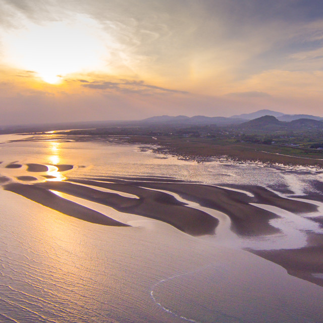 """low tide along the Co Louth coastline near Dundalk carlingford ireland"" stock image"