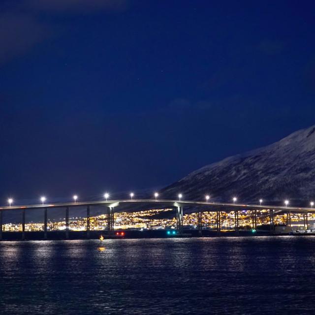 """Bridge over the waters of Norway"" stock image"