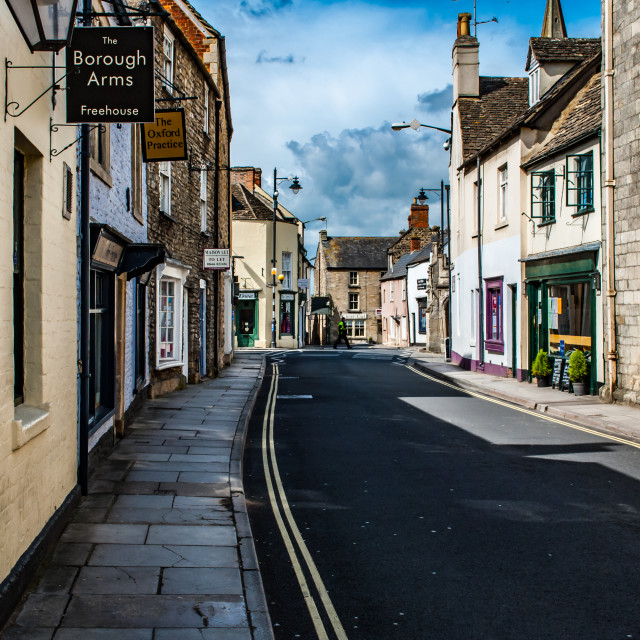 """""""Tetbury, Gloucestershire, United Kingdom April 22 2012. View of a typical..."""" stock image"""