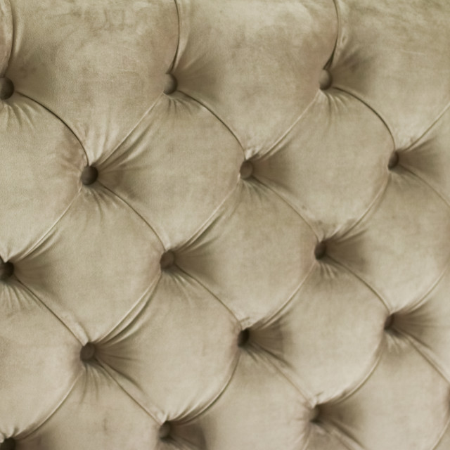 """Luxury velour quilted sofa upholstery with buttons, elegant home decor..."" stock image"