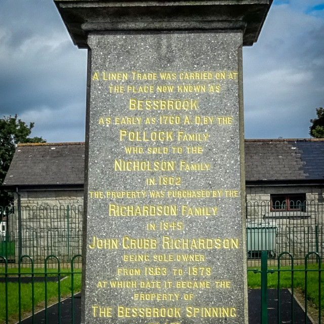 """a monument in bessbrook village co armagh"" stock image"