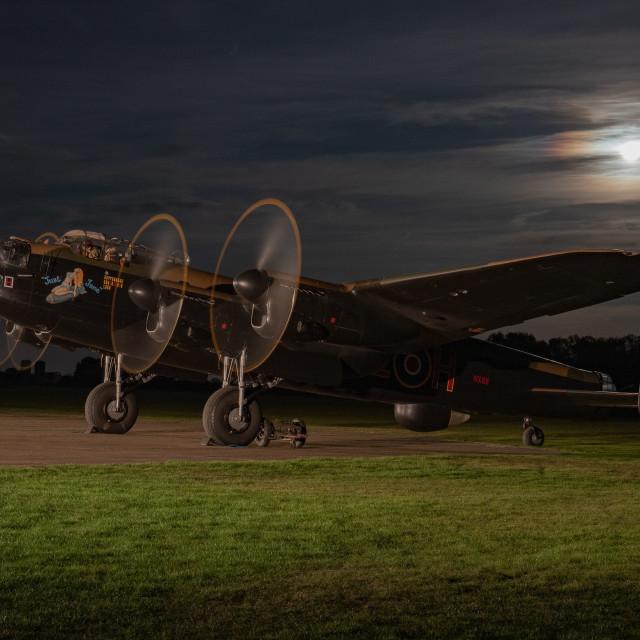 """Lancaster Moon"" stock image"