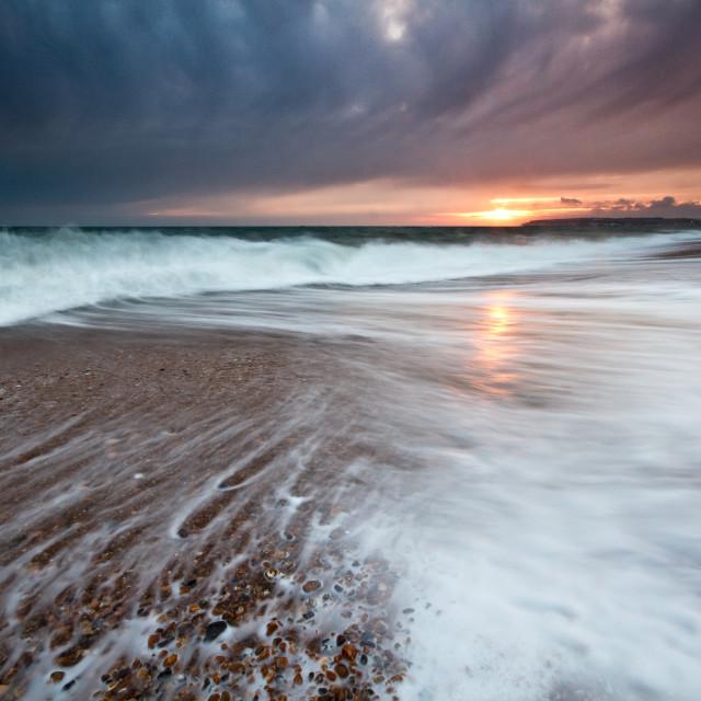 """Seaford Beach Sunset"" stock image"