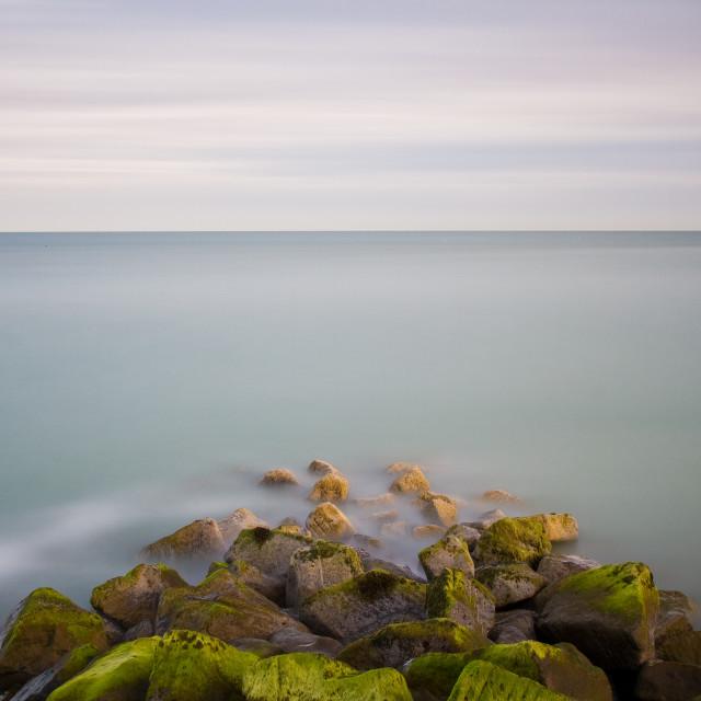 """Long exposure seascape"" stock image"