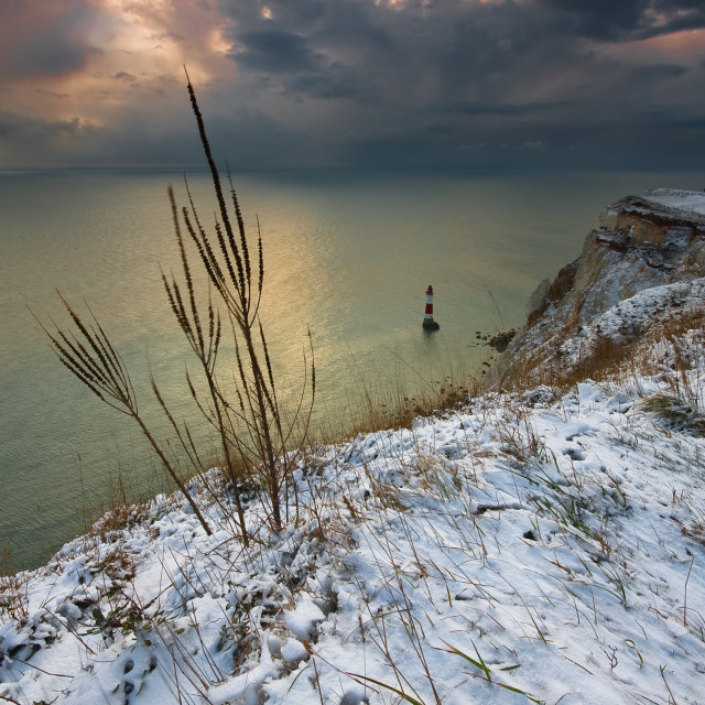"""Beachy head Lighthouse, East Sussex UK"" stock image"