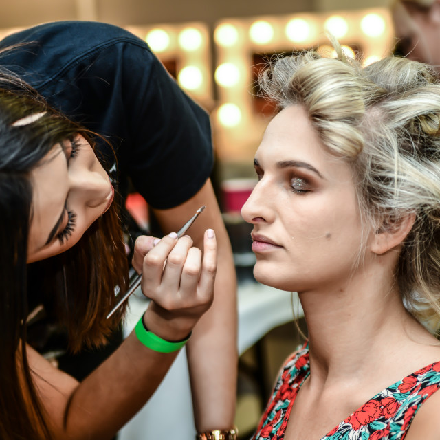 """Backstage at Fashion Scout - SS19 Day 3"" stock image"