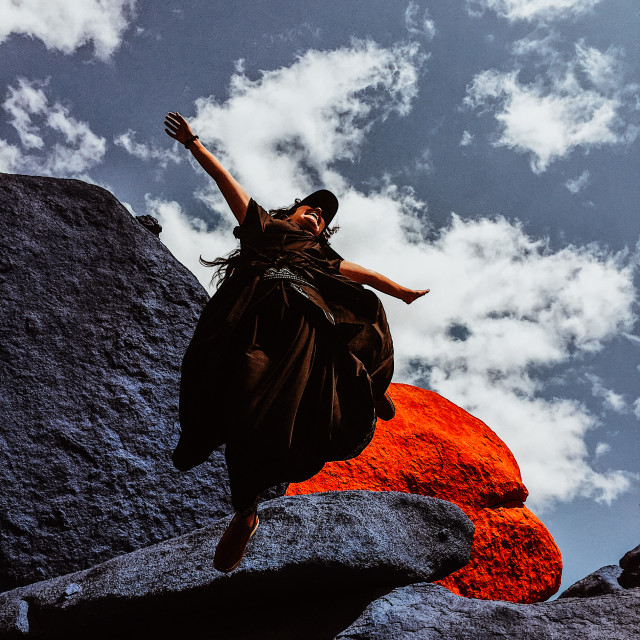 """""""FREEDOM IN THE PAINTED ROCKS"""" stock image"""
