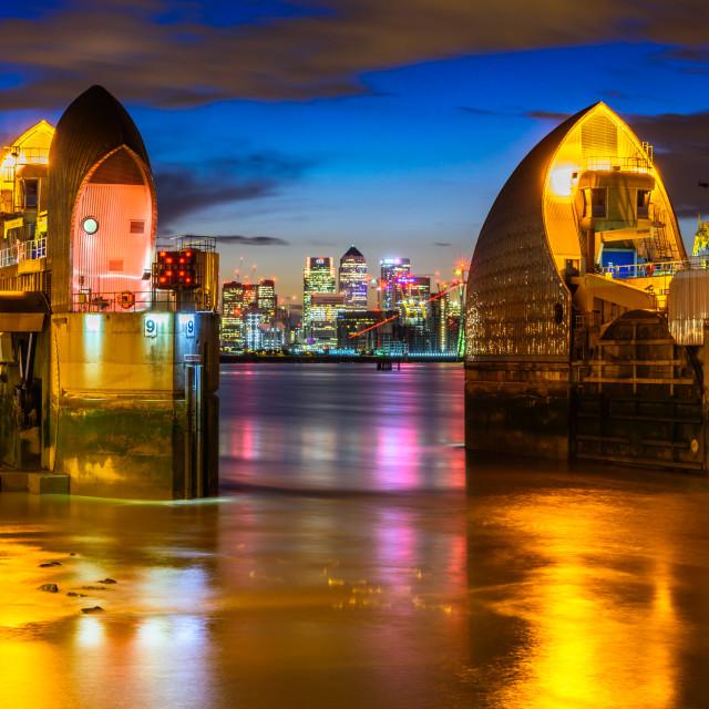 """""""Thames Barrier (VI), London, UK"""" stock image"""
