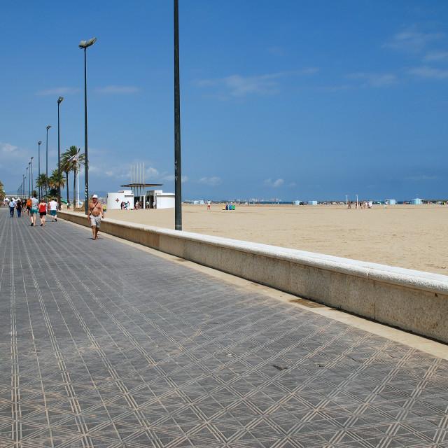 """""""Playa de Las Arenas, Valencia"""" stock image"""