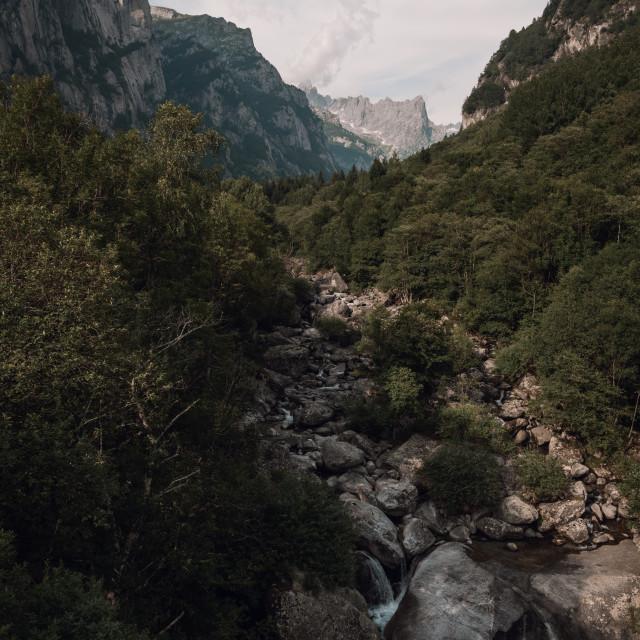"""""""Val di Mello, Italy"""" stock image"""