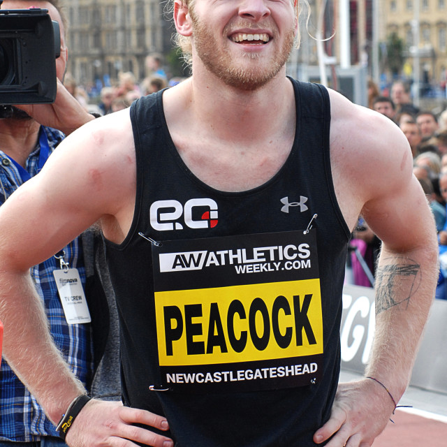 """Johnny Peacock at the Great North City Games 2016"" stock image"