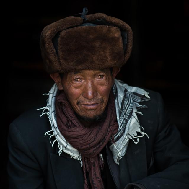 """""""Kyrgyz nomad"""" stock image"""