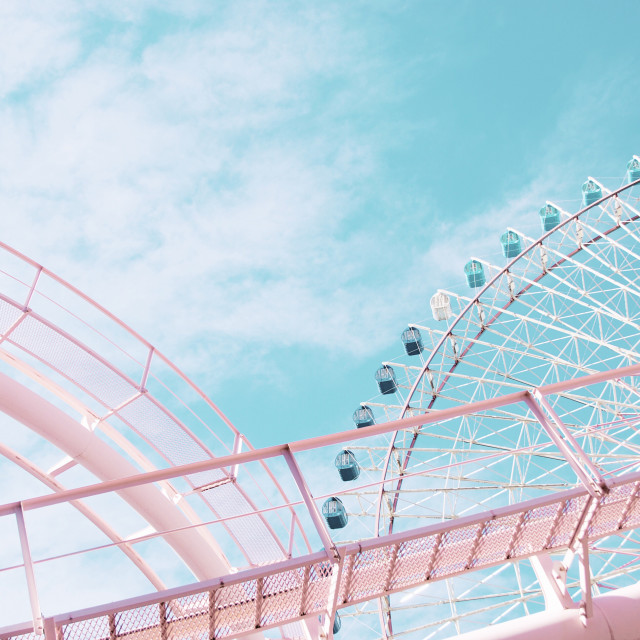 """""""Pastel rollercoaster"""" stock image"""