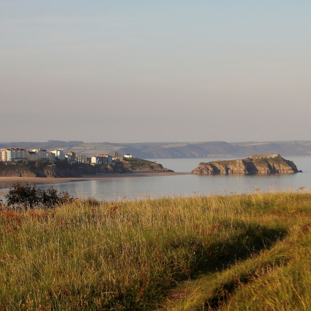 """""""Tenby on a September evening."""" stock image"""