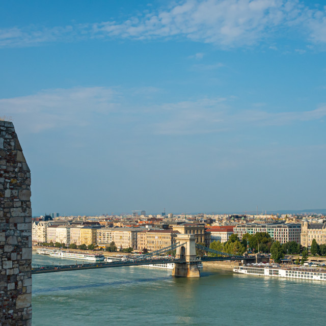 """""""Looking Over the Danube"""" stock image"""
