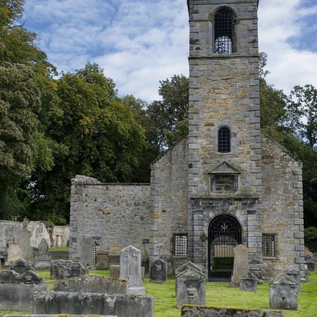 """""""Tulliallan Old Kirkyard"""" stock image"""