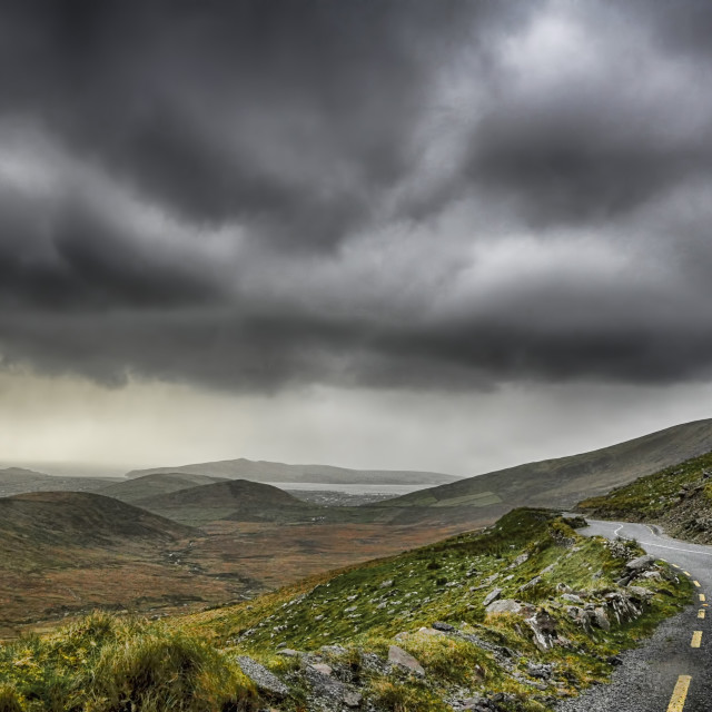 """MISTY IRISH ROAD"" stock image"