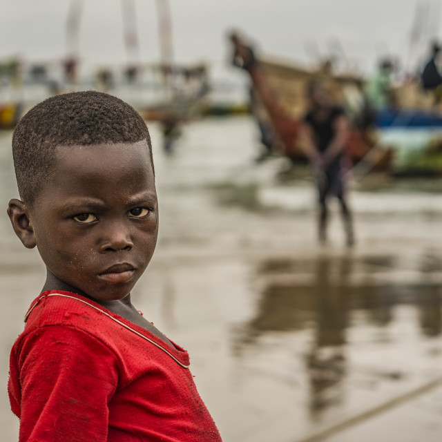 """LITTLE FISHERMAN OF GHANA"" stock image"