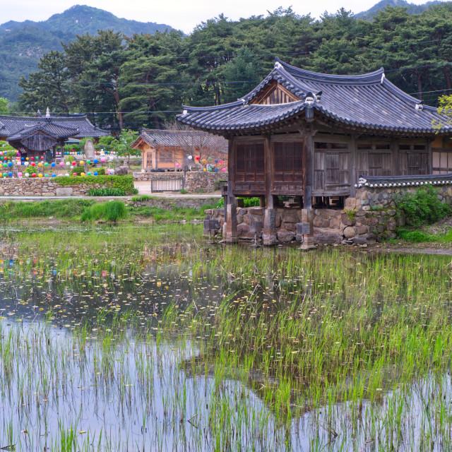 """""""Seochulji Pond"""" stock image"""