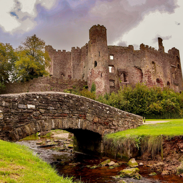 """""""Laugharne Castle"""" stock image"""
