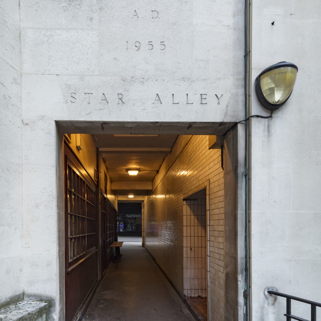 """Star Alley, City of London, England"" stock image"