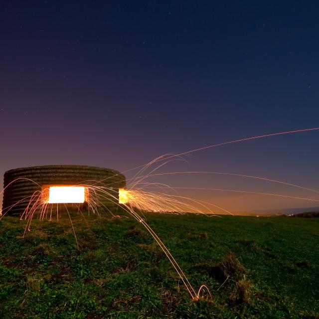 """Bunker explosion"" stock image"