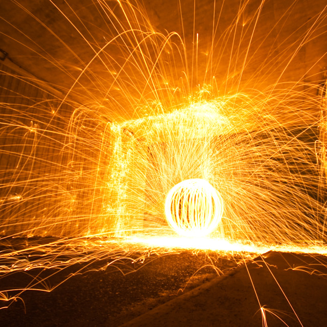 """Tunnel fire orb"" stock image"
