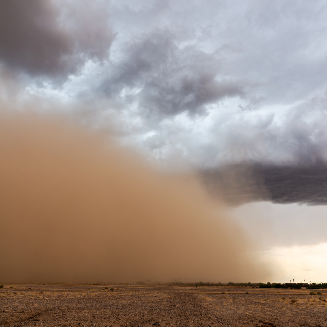 """Haboob dust storm in the desert"" stock image"