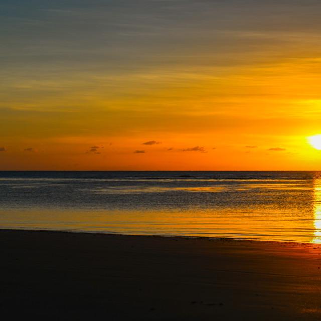 """""""Cape Tribulation Sunrise"""" stock image"""