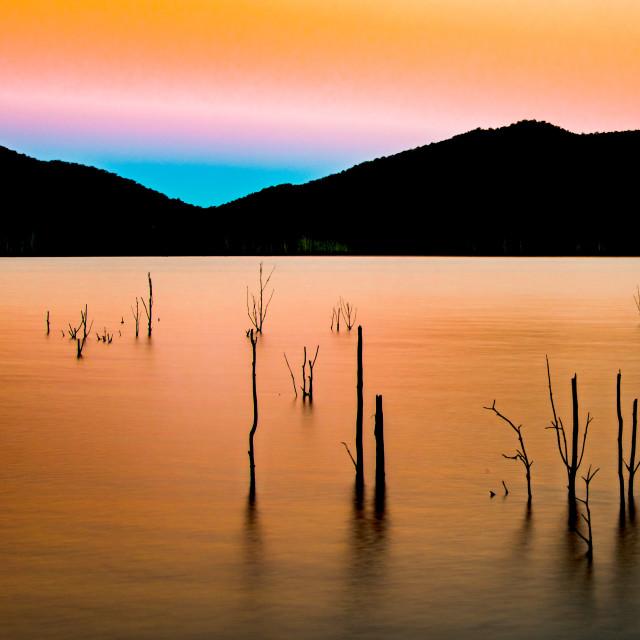 """Winter Evening Sunset"" stock image"