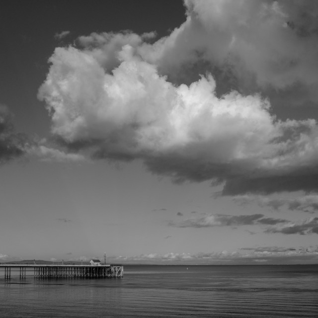 """""""Clouds Over Penarth"""" stock image"""