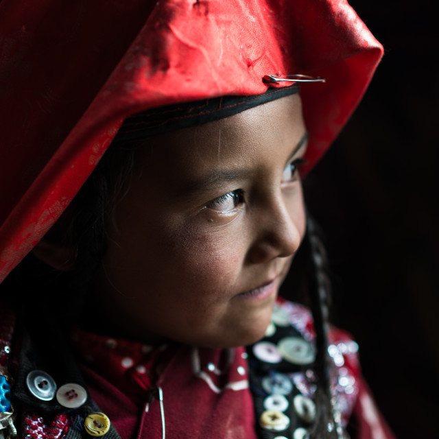 """Young Kyrgyz girl"" stock image"