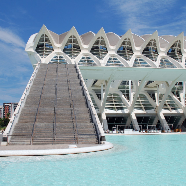 """""""The Science Museum in Valencia"""" stock image"""