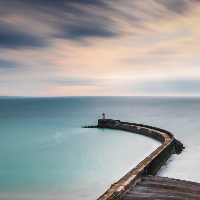 """Newhaven Harbour Arm"" stock image"