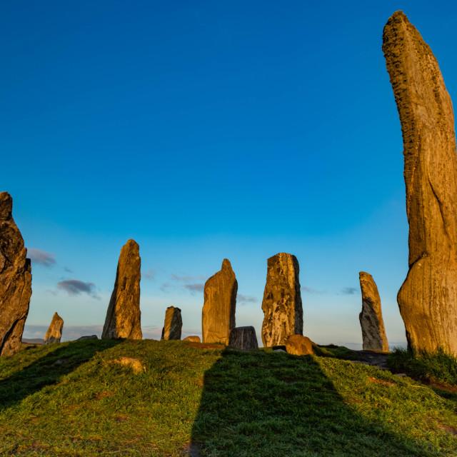 """""""Callanish Standing Stones"""" stock image"""