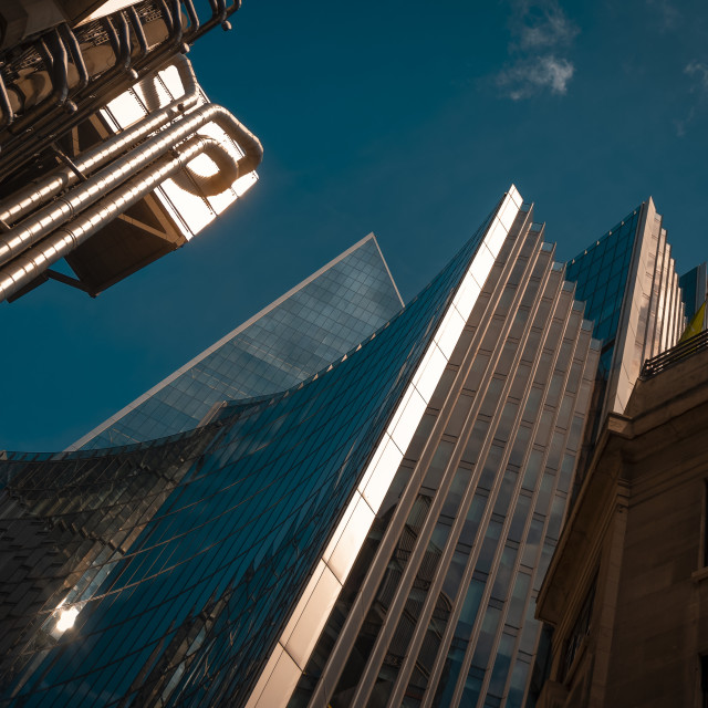 """The Lloyd's Building and The Willis Building, London"" stock image"